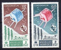 Col10    Nouvelles Hebrides  N° 211 & 212 Satellite Neuf X MH  Cote : 16,60  Euro Cote 2015 - Unused Stamps