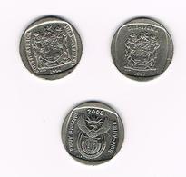 /   ZUID AFRIKA  3 X 1 RAND 1994/97/2003 - Afrique Du Sud