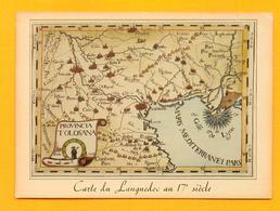 CPM FRANCE 66  ~  Le LANGUEDOC  ~  31/54  Carte Du Languedoc Au 17e Siècle  ( Loubatières 70/80 ) - France