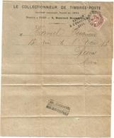 BLANC 3C SEUL BANDE PARIS PERIODIQUE 1915 POUR REIMS MARNE GRIFFE AU DOS ZONE DANGEREUSE NON DISTRIBUABLE - Marcofilia (sobres)