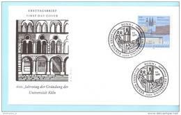 Bund BRD Germany Künstler FDC 1370 Kölner Universität 600 Jahre (007051) - BRD