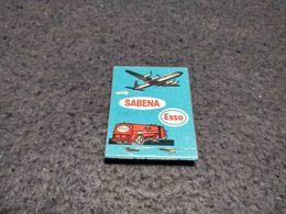 ANTIQUE MATCHBOX MATCHES LABEL ADVERTISING SABENA AIRLINES BELGIUM Nº1 - Boîtes D'allumettes