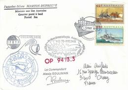 YT 1298 1299 - Navires De Guerre - Escale Du Marion Dufresne à Fremantle - Australie - 1990-99 Elizabeth II