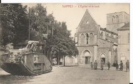 CPA - 51 - Marne - Suippes - L'église Et Le Tank - Militaire - Guerre - Animée - France