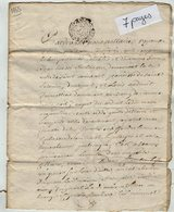 VP13.290 - Cachet Généralité De POITIERS - SAINT MAIXENT - Acte De 1755 à Déchiffrer - Seals Of Generality