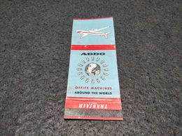 ANTIQUE MATCHBOX MATCHES LABEL ADVERTISING TRANSAIR AIRLINES SWEDEN - Boîtes D'allumettes
