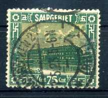 1922 SARRE N.95 USATO - 1920-35 Società Delle Nazioni