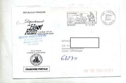 Lettre Franchise  Flamme Soultz Pelerinage Thierenbach Entete Departement - Marcophilie (Lettres)