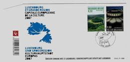 Belgie - Belgique FDC 3676/77 - Gemeenschappelijke Uitgifte Luxemburg - 2001-10
