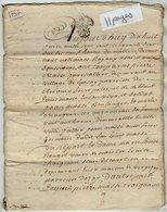 VP13.291 - Cachet Généralité De POITIERS - SAINT MAIXENT - Acte De 1757 à Déchiffrer - Seals Of Generality