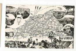 CPSM , Algérie, N°1548 , Souvenir D'Algérie ,Département  D'Oran ( Carte Geo) Ed. CAP. , Real Photo - Algeria