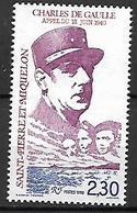SAINT-PIERRE  ET  MIQUELON    -   1990 .  Y&T N° 521 **.   Général  De GAULLE - Unused Stamps