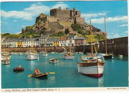Gorey Harbour, And Mont Orgueil Castle, Jersey, C.I. - (England) - John Hinde - Jersey