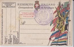 CARTOLINA POSTALE ITALIANA IN FRANCHIGIA CORRISPONDENZA DEL R.ESERCITO  AUTENTICA 100% - Posta