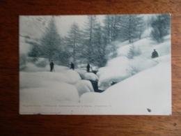 CPA Marches D'hiver, Officiers En Reconnaissance Sur La Clarée Dans Le Briançonnais - Manovre