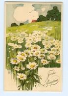Y8457/ Pfingsten Sonnenblumen Schöne Litho Präge AK Ca.1910 - Pentecôte