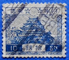 JAPAN 10 Sn 1926 NAGOYA CASTLE - USED - Usados