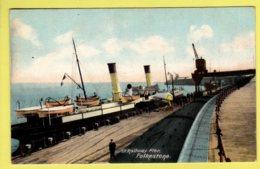 Kent - Folkestone, S.E. Railway Pier - H.B. Ltd. Postcard - Folkestone