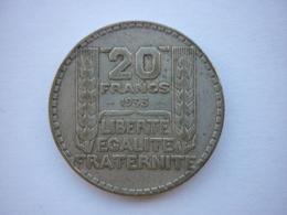 Pièce 20 Francs Argent  , Turin , 1933 . - L. 20 Francs