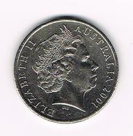 &   AUSTRALIE   20 CENTS  2001 - Monnaie Décimale (1966-...)