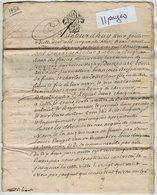 VP13.293 - Cachet Généralité De POITIERS - SAINT MAIXENT - Acte De 1758 à Déchiffrer - Cachets Généralité