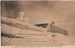 84, Vaucluse, MONT VENTOUX, L'Observatoire Sous La Neige, Scan Recto Verso - France