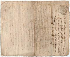 VP13.294 - Cachet Généralité De LIMOGES - RUELLE SUR TOUVRE - Acte De 1768 à Déchiffrer - Seals Of Generality