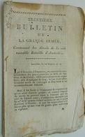 La Bataille D'Austerlitz, Trentième Bulletin De La Grande Armée, - Documentos Históricos