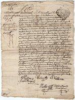 VP13.295 - Cachet Généralité De LIMOGES - RUELLE SUR TOUVRE - Acte De 1759 à Déchiffrer - Cachets Généralité