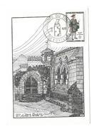 CARTE TIMBRE..Journée Du Timbre à DEAUVILLE (14) 1961. Cour Du Vieux Presbytère - 1960-69