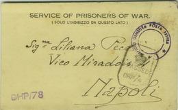 WWII - PRISONERS OF WAR - CAMP. N. 24 C/0 G.P.O. BOMBAY - INDIA - TO ITALY - POSTMARK  CENSURA POSTA ESTERA ( BG1227) - Guerre 1939-45