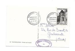 CARTE TIMBRE..Premier Jour à VAUCOULEURS (55) En 1952. Porte De France - 1950-59