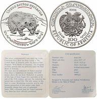 """Armenia 100 Dram 2006, Wild World Of Caucasus,Grey Bear """"ursus Arctos Syriacus"""" - Armenia"""
