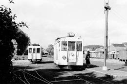Enghien (station Vicinale). SNCV Brabant. Cliché Jacques BAZIN. 6-7-1956 - Trains