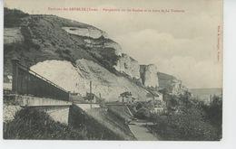 LES ANDELYS (environs) - Perspective Sur Les Roches Et La Gare De LA VACHERIE - Les Andelys