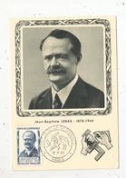Carte Maximum , Jean Baptiste LEBAS , Héros De La Résistance , Paris , 18-5-1957 , Carte Officielle De L'UNADIF - Cartes-Maximum