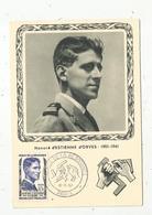 Carte Maximum , Honoré D'Estienne D'Orves , Héros De La Résistance , Paris , 18-5-1957 , Carte Officielle De L'UNADIF - Cartes-Maximum