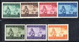 561/1500 - ALBANIA 1944 , Serie N. 312/318  ** MNH Con Punti Di Ossidazione - Albania