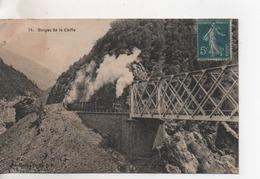 CPA.Afrique.Algérie.Gorges De La Chiffa.animé Train Avec De La Fumée - Algérie