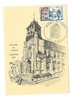 CARTE TIMBRE..Journée Du Timbre à LISIEUX (14) En 1971...La Poste Aux Armées 1914-1918 - Cartes-Maximum