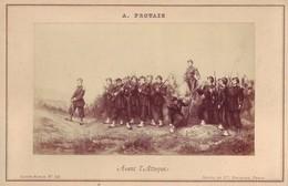 Photographie Sur Carton Fort - Avant L'Attaque - Peinture Vers1870 De Auguste Protais - Guerre Franco-Prussienne De 1870 - Photos