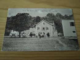 """Postcard ,""""A. C. Ilha Do Principe - Largo Paula Cid"""",  S. Tomé E Principe - Sao Tome And Principe"""