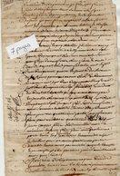 VP13.296 - Acte De 1760 - Partage De La Succession De Mr  FRERE DE NEUFVILLE - Manuscripts