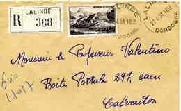 DORDOGNE: Yv 843 / LSC Horoplan Lalinde De 1951 Pour Caen TB - Marcophilie (Lettres)