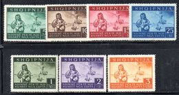563/1500 - ALBANIA Tedesca 1944 , Vittime Di Guerra (sassone N. 15/21, Yvert N. 312/18)  ***  MNH - Albania