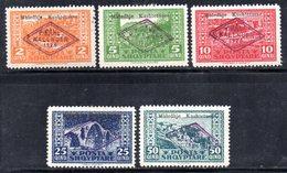 564/1500 - ALBANIA 1924 , Serie Completa N. 130/134  ***  MNH - Albania