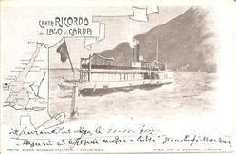 ITALIA - CARTA RICORDO Del LAGO DI GARDA En 1907  (Dos Non Divisé) - Trento