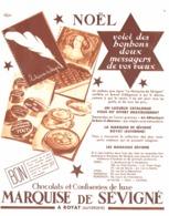 """PUB  CHOCOLATS Et CONFISERIES   """" MARQUISE De SEVIGNE """"   1934 - Chocolate"""