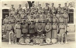 MILITAIRES A IDENTIFIER -  PHOTO CARTE - MUSIQUE FANFARE - Regimente