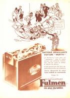 """PUB BATTERIE  """"  FULMEN   """" Par ALAIN SAINT OGAN 1934 (7) - Transportation"""